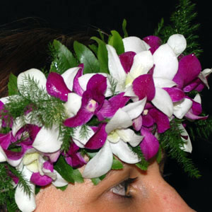 Fresh Dendrobium Orchid Haku Headband - Aloha Hawaiian Flowers 8be31c48c4d